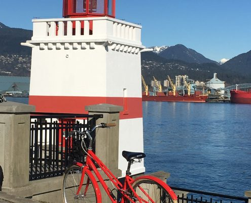 Stanley Park Bike Lighthouse portrait