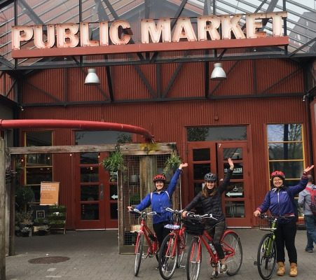 Public Market yes cycle Granville island bike tour