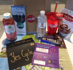 Yelp gift bag yes cycle