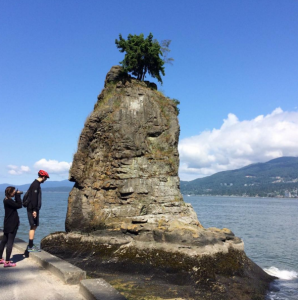 Siwash Rock stanley park yes cycle
