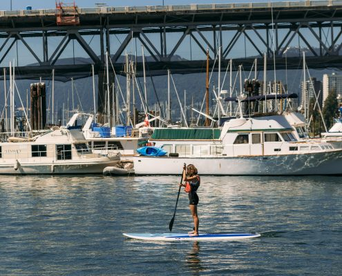 Granville Island Stand Up Paddle Boarder